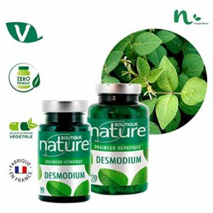 Boutique Nature – Complément Alimentaire – Desmodium – 90 Gélules Végétales – Bon fonctionnement hépatique