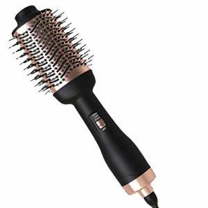 Brosse à air chaud, Brosse pour sèche-cheveux multifonctions, Volumiser, Lisseur pour salon ionique négatif et Brosse à friser anti-brûlure