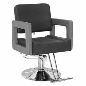 Chaise De Coiffure Chaise De Travail Equipement De Coiffure Chaise Hydraulique/Pu Chaise/Ascenseur Base Carrée Coiffure Spa Salon Beauté Barber Chair,E