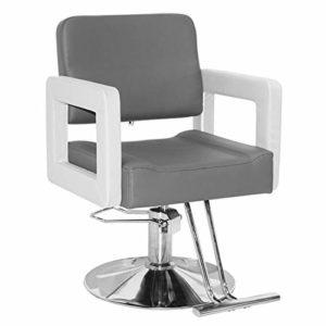 Chaise De Coiffure Chaise De Travail Equipement De Coiffure Chaise Hydraulique/Pu Chaise/Ascenseur Base Carrée Coiffure Spa Salon Beauté Barber Chair,G
