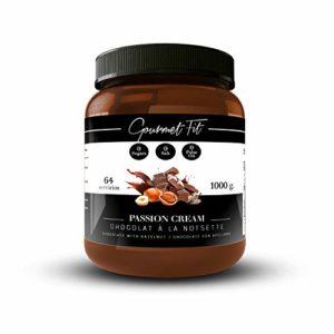 Crème hyperprotéique au cacao et aux noisettes sans sucre et sans graisses saturées – Sans sucre de palme – Format 1KG Une saveur incroyable (Noisettes)