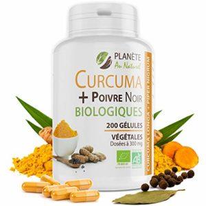Curcuma et Poivre Noir Bio 300mg – 200 gélules végétales
