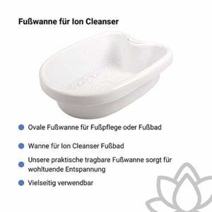 Cuvette»Oval» pour bain de pieds avec l'appareil Ion Cleanser