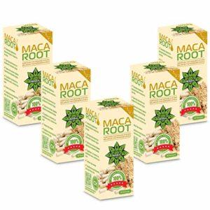 Cvetita Herbal,Racine de Maca gélules poudre,Augmenter les niveaux d'énergie et augmenter la vitalité, Balances Hormones,Changements d'humeur,Améliore la libido (400 gélules)
