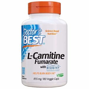 Doctor's Best, Best L-Carnitine Fumarate, 855 mg, 180 Capsules Végétales