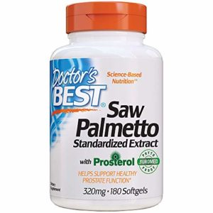 Doctor's Best, Meilleur Saw Palmetto, extrait standardisé, 320 mg, 180 gélules