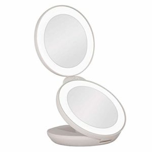Double Miroir de Voyage 1x et 10x avec lumière LED «Nouvelle Génération»