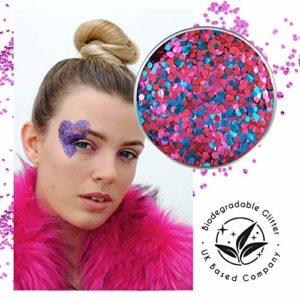 Ecostardust Twilight biodégradable Paillettes ✶ Festival Bioglitter Cosmétique visage Corps Cheveux ongles
