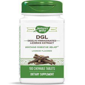 Enzymatic Therapy – 100 Comprimés à Croquer contre le Mal de Ventre, Soulage l'Appareil Digestif – Saveur Réglisse