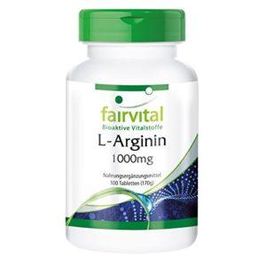 Fairvital Flacon de 100 comprimés L-Arginin 1000 mg