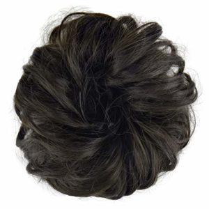 FESHFEN Postiche Chignon Extensions De Cheveux Bouclés Ondulés Chouchou Postiche Queue de Cheval Résistant à La Chaleur