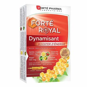 Forté Pharma Forté Royal Dynamisant Booster de Défenses Et d'Énergie 20 Ampoules de 15 ml