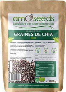 Graines de Chia Bio Supérieures – Sachet de 1kg – amOseeds