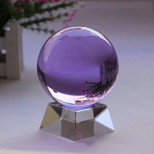 GWLTV Améthyste Cristal Sphère, Boule de Cristal de guérison Violet Pierre Rare Violet Power Ball Pierre Crystal guérison, méditation,Crystalbase,250mm