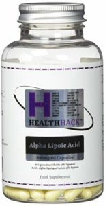Health Hack – Lot de 60 capsules d'acide α-lipoïque, 500 mg