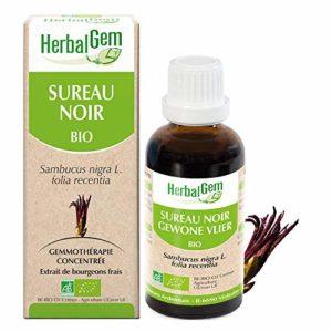 HerbalGem Macérats-Mères de Gemmothérapie Concentrée Sureau Noir Bio