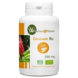 Herbes Et Plantes Gingembre Bio 200 Gélules Végétales 250 mg