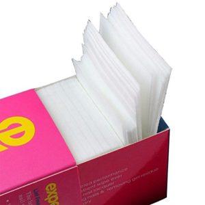 Hosaire Carré Cellulose en Coton pour Nettoyage des Ongles non-tissé jetable Coton Tampon Nettoyage pour Vernis à Ongles Nail Art 325 feuilles