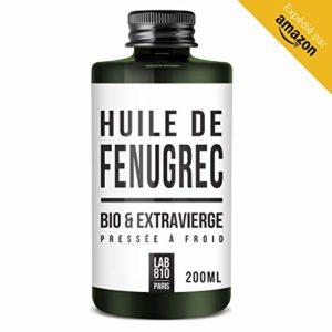HUILE DE FENUGREC BIO 100% Pure et Naturelle, Pressée à Froid & Extra Vierge. Augmentation de la poitrine (200ml)