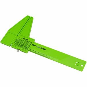 JAYLONG Personal Corps Fat Loss Testeur Calculatrice Caliper Fitness Clip Graisse Outil De Mesure Slim Chart Skinfold Test Ingratten, 3 Couleurs pour Choisir,Green
