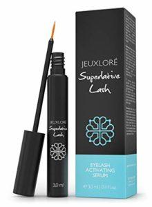 JEUXLORÉ – Superlative Lash – sérum pour cils et sourcils | Booster pour une croissance rapide des cils, cils longs et épais | 3 ml Eyelash Activating Serum hautement dosé