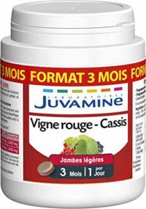 Juvamine Jambes légères, Vigne Rouge Cassis 2000mg de plantes, 90 comprimés
