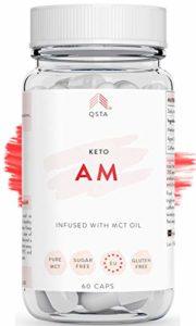 Keto Pro Fit AM (45 JOURS) – Keto burn original cure et authentique, perte de poids avancée, bruleur de graisses extra fort, Vinaigre de cidre de Pomme + Huile MCT C8 Fat Burner, KIT KETO PERSONNALISÉ