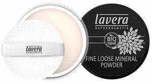 lavera Poudre Libre Minérale – Fine Loose Mineral Powder – Poudre minérale fine – vegan – Cosmétiques naturels – Make up – Ingrédients végétaux bio – 100% Naturel Maquillage (8 g)