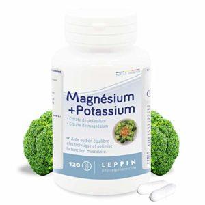 LEPPIN – Magnésium + Potassium 120 gélules – MINÉRAUX CITRATES – Haute biodisponibilité – Compléments alimentaires naturels