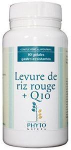 Levure de riz rouge + Q10 en 90 gélules gastro-résistantes cure 3 mois