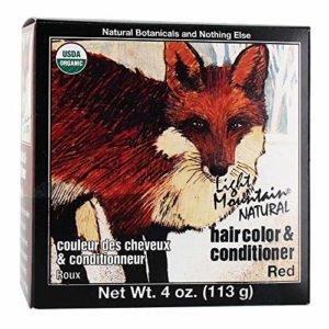 Light Mountain Colorant capillaire et après-shampooing – Henné rouge – Couleur naturelle – 120 ml