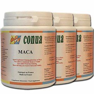 LOT SPECIAL de 3 FLACONS : Maca root Agriculture saine, 500 mg 120 gélules soit 3000 mg par jour en poudre Ginseng péruvien libido performance physique ménopause SANS et PAS D'EXCIPIENTS ARTIFICIELS