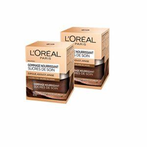 L'Oréal Paris – Gommage Nourrissant Pour Le Visage et Les Lèvres – Sucres de Soin – 50 ml – Lot de 2