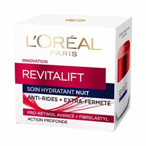 L'Oréal Paris – Revitalift – Soin Nuit Hydratant – Anti-Rides & Extra-Fermeté – Anti-Âge – 50 mL