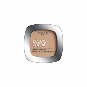 L'Oréal Paris Make Up Designer – Accord Parfait Poudre Fondante et Matifiante 3.D Beige Doré