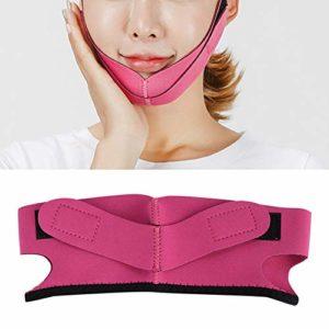 Masque lifting – Masque anti-âge liftant en forme de V, adapté au visage, lifting du menton – Rides de perte de poids, soulève le cou et le menton