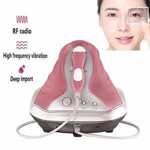 Masseur de vibration oculaire professionnel avec RF, 55 ℃ chauffé – Éliminer les rides,Resserrement de la peau des yeux,Soulagez vos cernes, points noirs et poches pour utilisation en salon,Rose