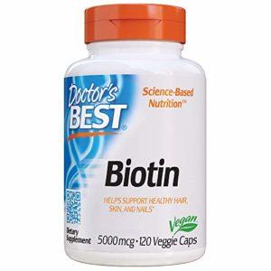 Meilleur biotine, 5000 mcg, 120 Veggie Caps – Doctor est le meilleur