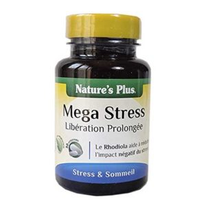 Nature s plus – Mega-stress action prolongée – 30 comprimés – Contre la déprime et le stress