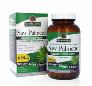 Nature's Answer Saw Palmetto Extract Vegetarian Capsules, 120-Count
