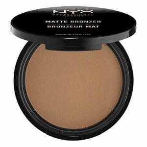 NYX Professional Makeup Poudre Compacte Bronzante Corps et Visage Matte Bronzer, Sans Reflets, Deep Tan