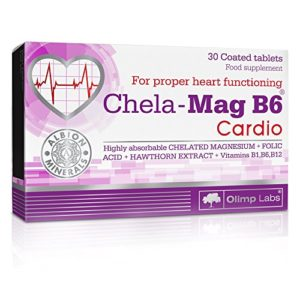 Olimp Labs Chela-Mag B6 Cardio 30 Caps Magnesium, Vitamin B1, B6 and B12, Folic acid for proper heart muscle FUNCTIONING