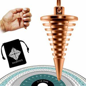 Pendule Radiesthésie Divinatoire Cône Égyptien – Vortex à Spirales en Laiton Cuivré – Magnétiseur Sourcier [𝐒𝐚𝐭𝐢𝐬𝐟𝐚𝐢𝐭 𝐨𝐮 𝐑𝐞𝐦𝐛𝐨𝐮𝐫𝐬𝐞]