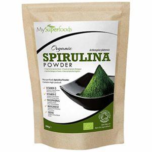 Poudre De Spiruline Biologique (200mg) | MySuperFoods | Enrichis en protéines, calcium et vitamines | Riches en nutriments | La meilleure qualité qui soit | Certifiés biologiques par la Soil Association