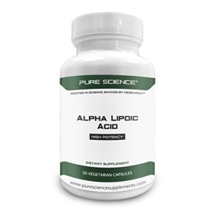 Pure Science Acide Alpha-Lipoïque 600mg – Antioxydant pour la Santé cellulaire et le Métabolisme du Glucose -50 Capsules Végétariennes