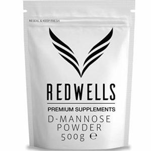 REDWELLS Pure D-mannose Poudre pour voies cystite et infections urinaires Infections sans OGM Vegan