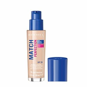 Rimmel – Match Perfection – Fond de teint liquide – Light Porcelain (Clair) – 30 ml
