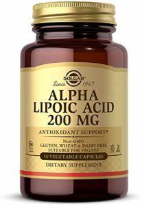 Solgar Acide Alpha-Lipoïque 50 Gélules Végétales 200 mg