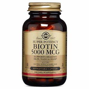 Solgar Biotin 5000 µg Vegetable Capsules – Pack of 50