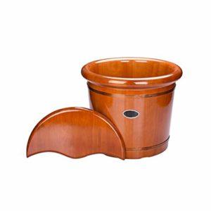 Spa bain de pieds Barrel for Spa des pieds bain seau en bois Lavabo Ménage lisse et délicat FootbathCypress Sauna Faire tremper le trempage Pédicure Bowl Barils WoodFoot bassin TubBucket avec couvercl